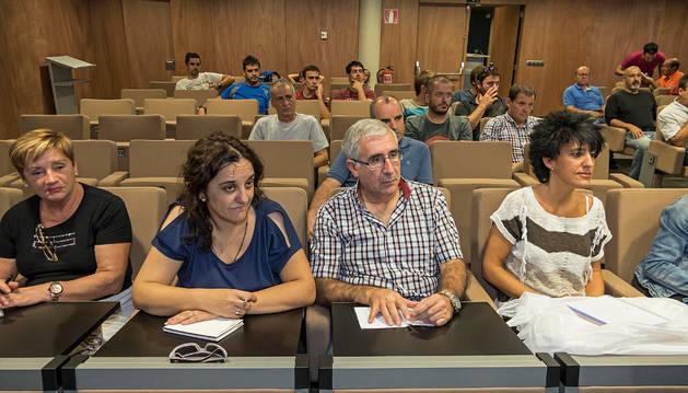 Asistentes, la mayoría representantes de ayuntamientos, a la sesión celebrada en mancomunidad.