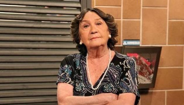 Imagen de la actriz Amparo Valle en el rodaje de 'La que se avecina'.
