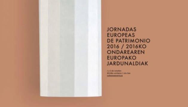 Cartel de las Jornadas Europeas sobre Patrimonio.