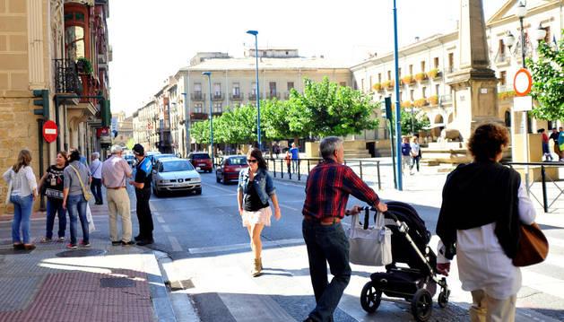 La avenida de Severino Fernández, en el centro, es una de las más transitadas por los vehículos.