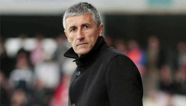Quique Setién dirigiendo un partido de Las Palmas