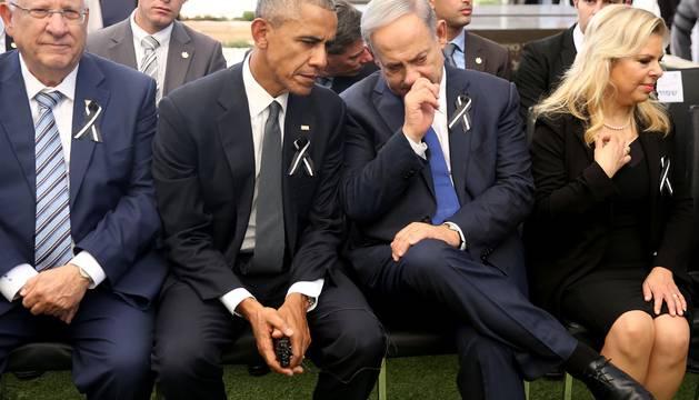 Despedida a Simón Peres en Jerusalén