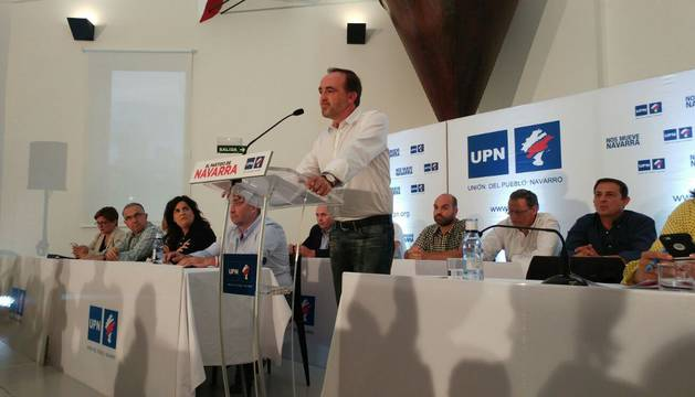 Javier Esparza, en su intervención en el Consejo Político de UPN.