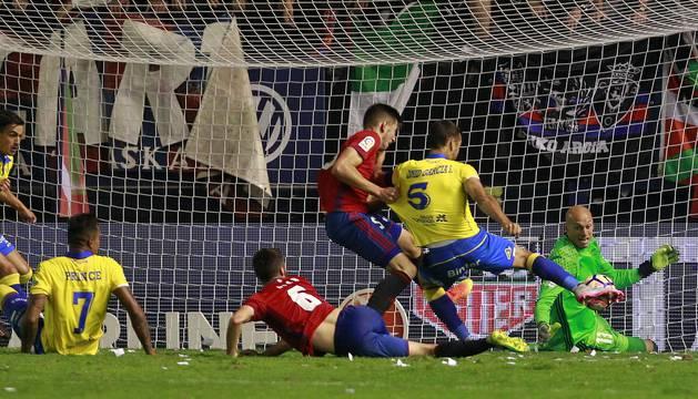 Imágenes del partido disputado este sábado en El Sadar.