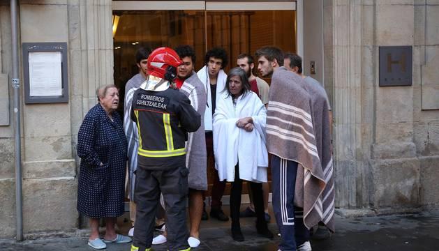Una fallecida en un incendio en la calle Zapatería