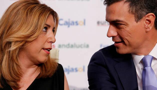 Susana Díaz, junto a Pedro Sáchez.