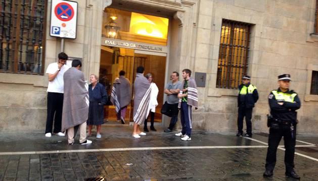 Una mujer de 78 años falleció en el incendio de un piso en el centro de Pamplona.