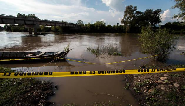 Vista del río Lerma, en Jamay, donde han sido hallados los cadáveres.
