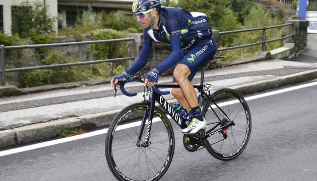 Alejandro Valverde, sexto en la última carrera, el Giro de Lombardía.
