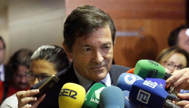 El presidente del Principado y secretario general de los socialistas asturianos, Javier Fernández.