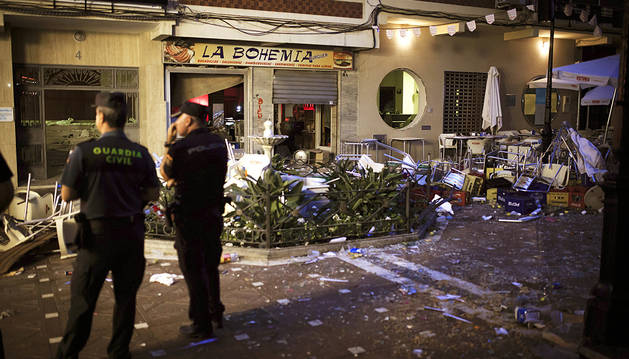 Una explosión  de gas causa 77 heridos en Vélez-Málaga