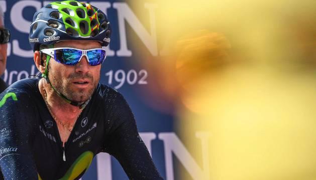 Valverde durante el Giro de 2016