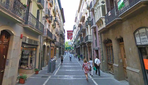 El atropello ocurrió en la calle Mayor de Pamplona.