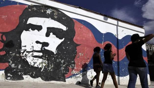 Mural del Che Guevara en La Habana.