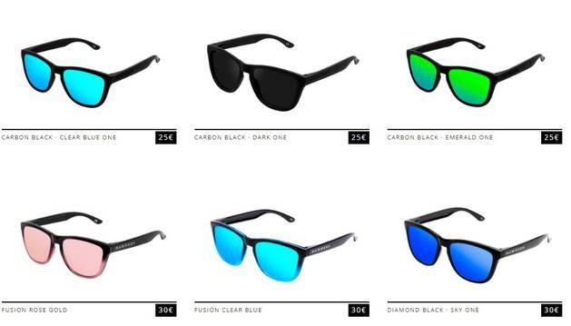Distintos modelos de gafas de Hawkers.