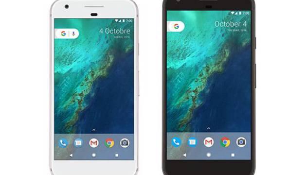 Los nuevos modelos Pixel y Pixel XL de Google.