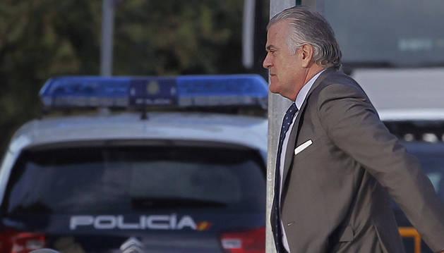 Luis Bárcenas, extesorero del PP, a su llegada a la Audiencia Nacional.