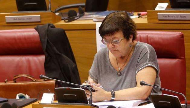 La consejera de Presidencia, Justicia e Interior del Gobierno de Navarra, María José Beaumont.