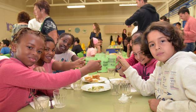 Niños del colegio público San Jorge.