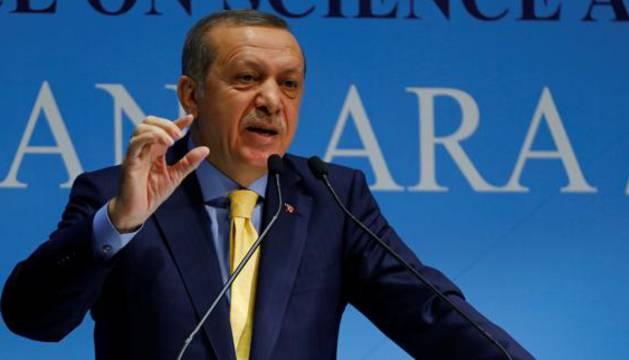 Erdogan da una rueda de prensa