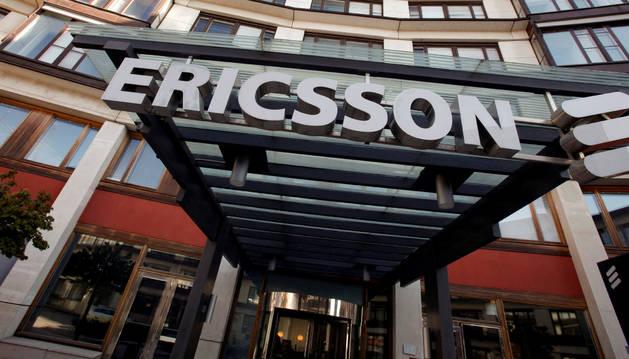 Exterior de la sede de Ericsson en Estocolmo.