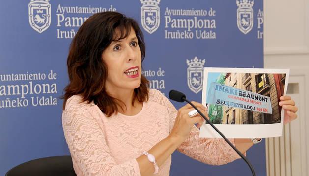 La portavoz socialista en el Ayuntamiento de Pamplona, Maite Esporrín.