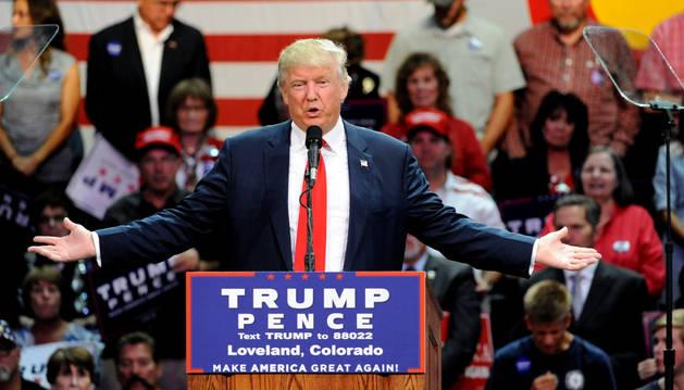 El candidato presidencial republicano, Donald Trump.