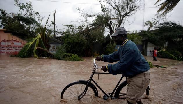 El hurracán Matthew, a su paso por Haití