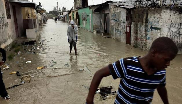 Imagenes del huracán Matthew, que ha dejado cinco muertos en Haití