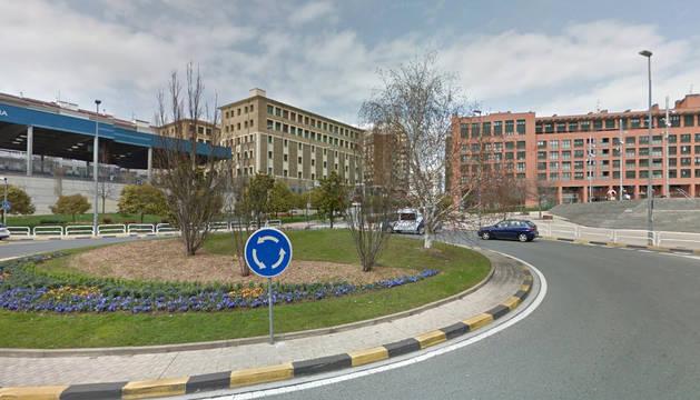 Imagen de la rotonda de la Avenida Zaragoza.