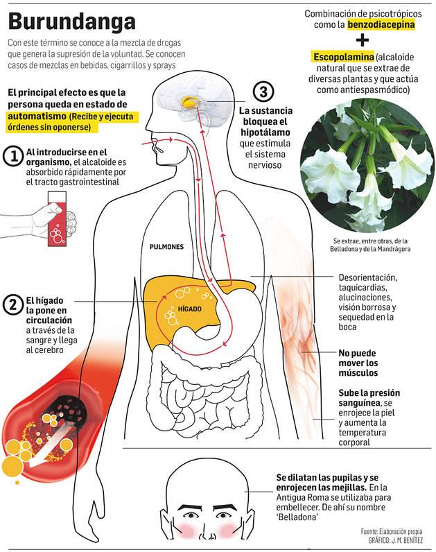 Efecto de la droga conocida como burundanga