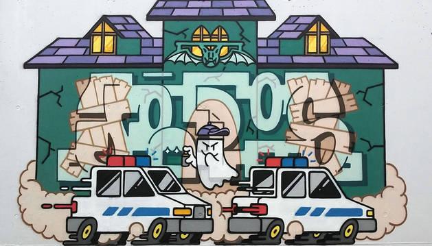 Imagen del grafiti ganador del concurso Civigraff.