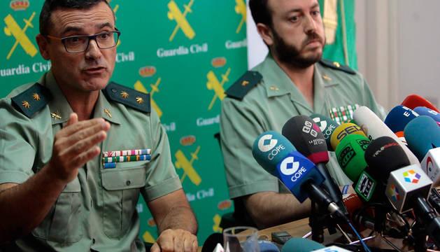 Imagen de la rueda de prensa sobre el asesinato de una familia en Guadalajara.