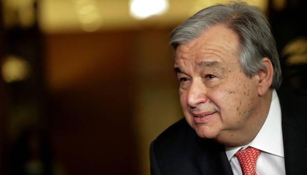 El ex primer ministro portugués António Guterres.