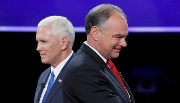 Imagen de los candidatos a la vicepresidencia de EE UU, Pence y Kaine