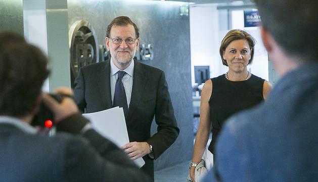 Imagen de Mariano Rajoy y Cospedal.