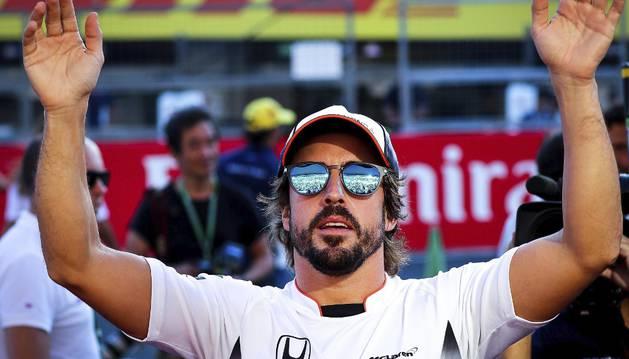 Imagen de Fernando Alonso, en el circuito de Suzuka.