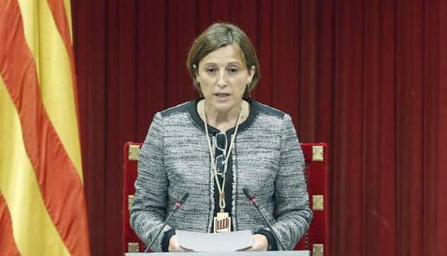 La presidenta de la Cámara catalana, Carme Forcadell.