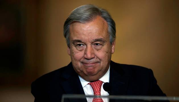 Imagen de António Guterres, nuevo secretario general de la ONU.