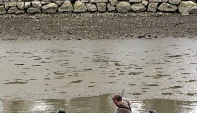 Vaciado del lago de Mendillorri