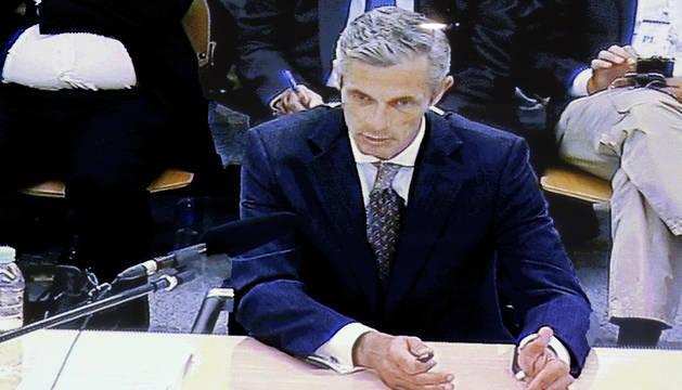 Imagen de José María Buenaventura, miembro de la Comisión de Control de Caja Madrid, en el juicio de las tarjetas black.
