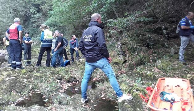 Imagen del lugar donde ha aparecido el cadáver del guipuzcoano fallecido.