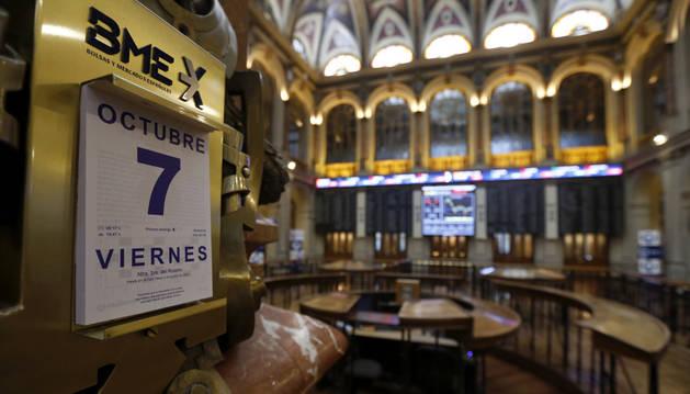 Imagen de la Bolsa de Madrid este viernes 7 de octubre.