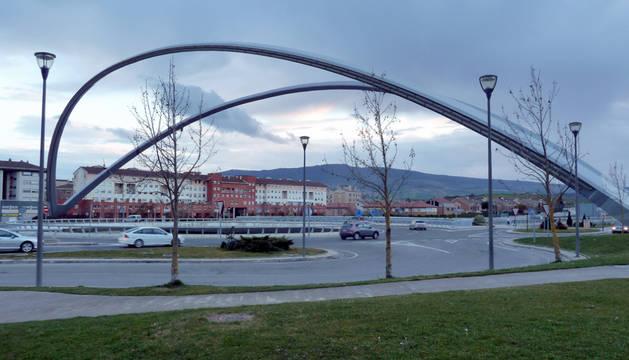 Rotonda de la A-12 a la altura de Zizur Mayor.