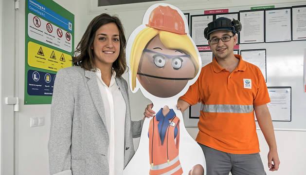Belén Mayayo Mendoza, coordinadora del proyecto, y el ingeniero Carlos Zurrón Barragán.