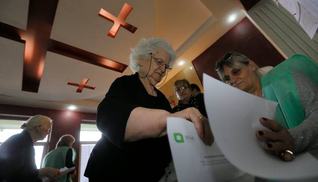 Foto de las elecciones parlamentarias de este sábado en Georgia