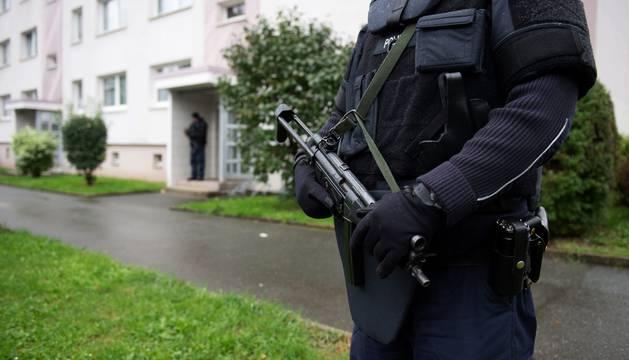 Foto de los agentes en Chemnitz