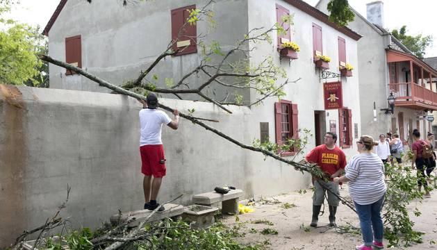 Destrucción del huracán Matthew en Estados Unidos