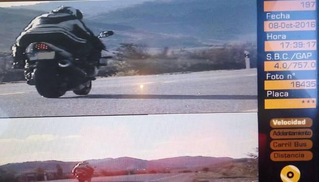 Foto del motorista imputado en Lónguida