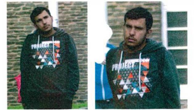 Fotografías difundidas por la policía alemana de Jaber Albakr, el sospechoso sirio fugado.